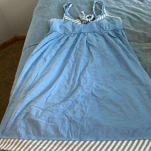 Blue swim cover up